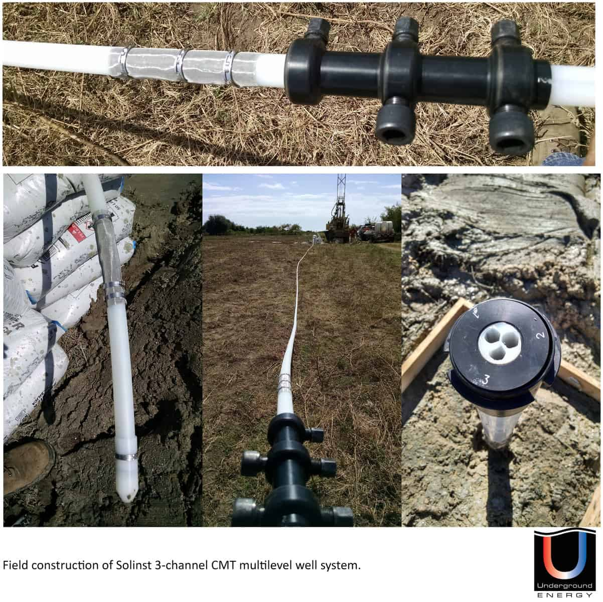 Solinst Continuous Multichannel Tubing CMT installation hydrogeology discrete level monitoring well geophysical borehole logging